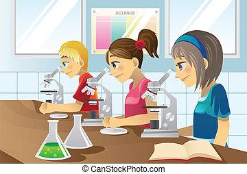 wissenschaft, kinder, labor