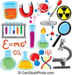 wissenschaft, satz, füllen