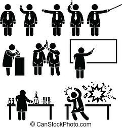 Wissenschaftliches Professorenlabor.