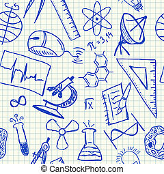 Wissenschafts-Doodles nahtlos