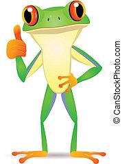 Witziger Frosch Cartoon
