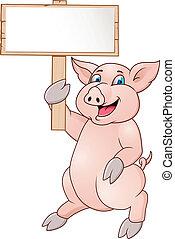 Witziger Schweine-Zeichentrick