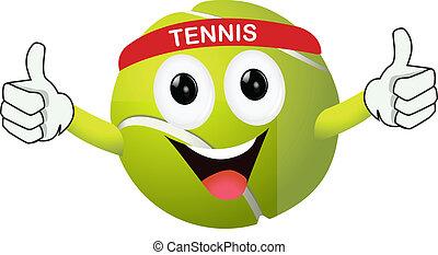 Witziger Tennisball