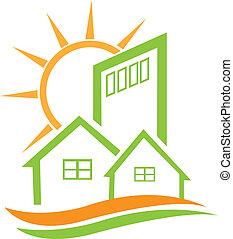 Wohnheim und Sonne