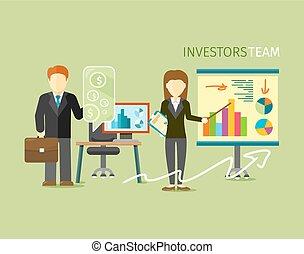 wohnung, stil, gruppe, anleger, leute, mannschaft