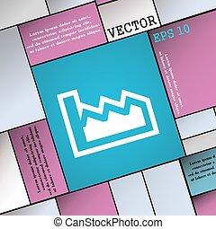 wohnung, stil, zeichen., modern, tabelle, vektor, ikone, dein, design.