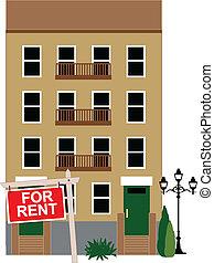 Wohnung zu vermieten.