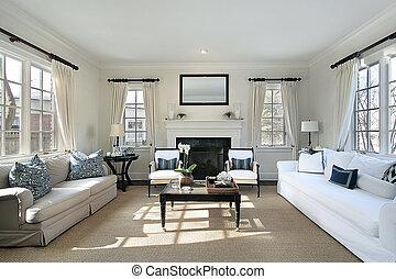 Wohnzimmer im Luxushaus
