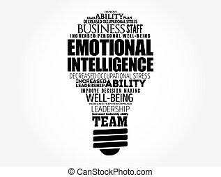 wolke, emotional, zwiebel, intelligenz, licht, wort