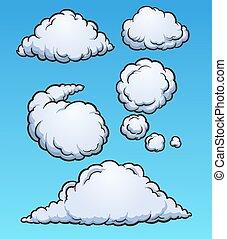 wolkenhimmel, karikatur