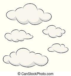 wolkenhimmel, sammlung, ikone