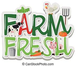 Word Design für Farm Frisch.