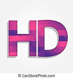 Word HD mit bunten Dreiecken.