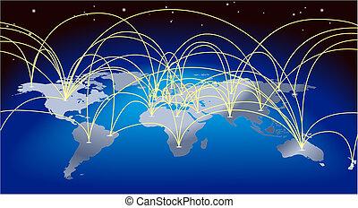 World Trade Map Hintergrund.