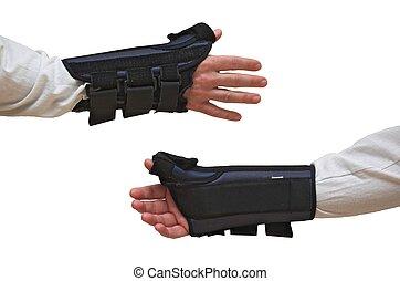 Wrist und Daumenbremse / Schilf (Vorne + Rückenansicht)