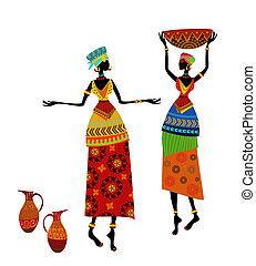 Wunderschöne afrikanische Frau in traditionellem Kostüm