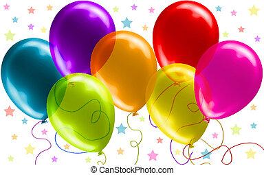 Wunderschöne Geburtstagsballons