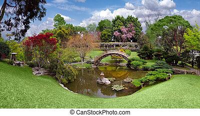 Wunderschöner botanischer Garten in der Huntington-Bibliothek in Kalifornien