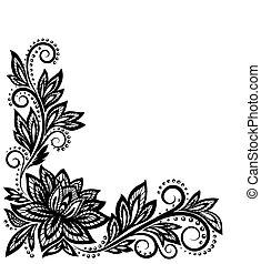 Wunderschönes Blumenmuster, ein Designelement im alten Stil.