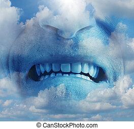 Wut wütet Emotionen.