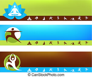 Yoga Hintergrundvorlagen.