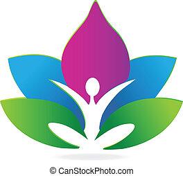Yoga Lotus Meditationslogo.