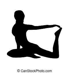 Yoga Silhouette schwarz.