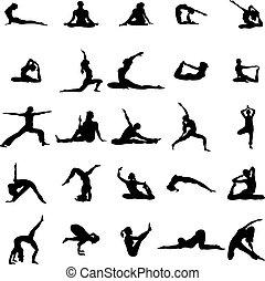 Yoga Silhouette Set.