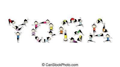 Yogatraining, Konzept für dein Design