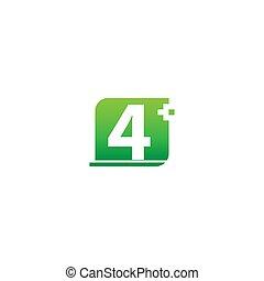 zahl, medizin, logo, 4, ikone, kreuz, design