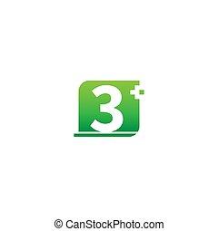 zahl, medizinisch 3, logo, ikone, kreuz, design