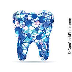Zahn der Moleküle