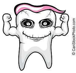 Zahn Rosa Charaktervektor