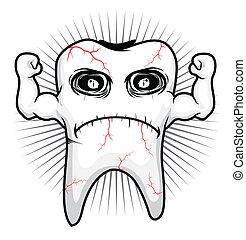 Zahnkrank stark