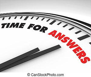 Zeit für Antworten - Uhr