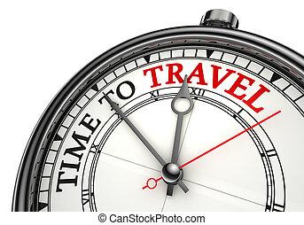 Zeit für die Reiseplanungsuhr