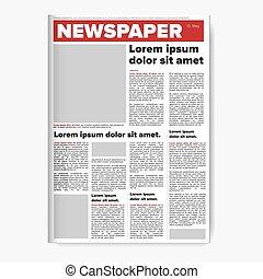 Zeitungs-Layout-Vektor.