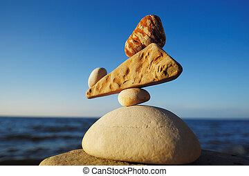 zen-wie, gleichgewicht