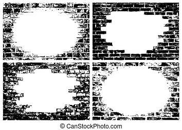 Ziegelmauern Grenzen