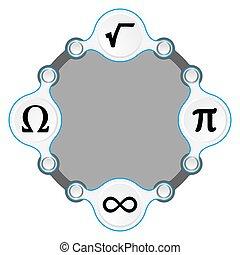 Zirkelrahmen für Ihre Text- und Mathematiksymbole.