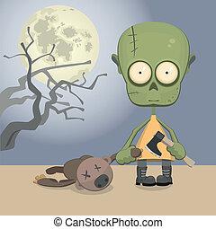 zombie, m�dchen