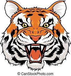 Zorniger Tiger.