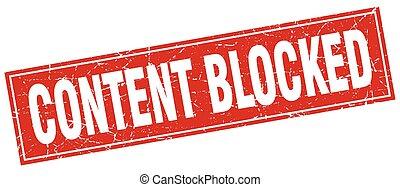 zufriedene , briefmarke, quadrat, blockiert