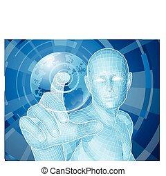 Zukünftiges Menschen-Entscheidungskonzept