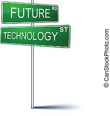 Zukünftiges Zeichen der Technik.