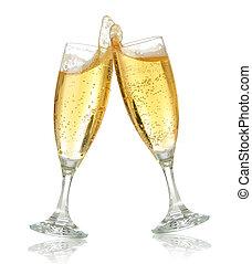 Zum Feiern Toast mit Champagner