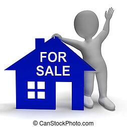Zum Verkauf Haus zeigt Immobilien auf dem Markt.