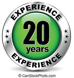 zwanzig, erfahrung, jahre