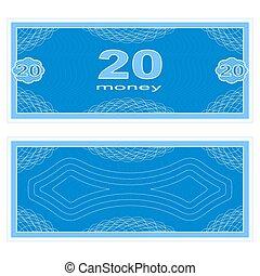 zwanzig, spielen, geld.