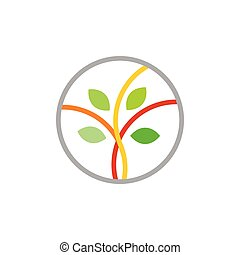 zweig, symbol, logo, vektor, abstrakt, blatt